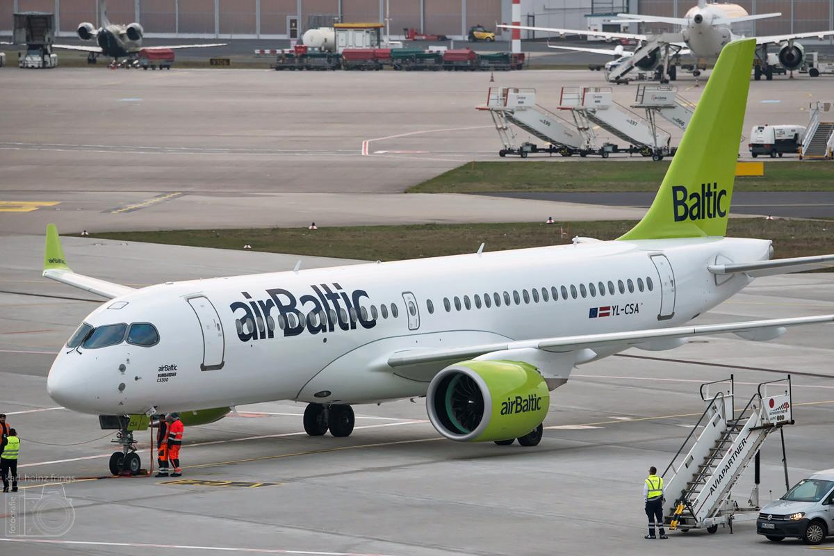 YL-CSA Air Baltic Bombardier CS300